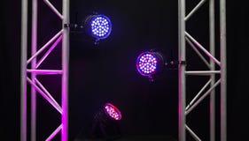 3 пестротканых света приведенных диско Стоковая Фотография RF