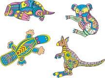 Пестрые коала, platypus и кенгуру Стоковое Фото