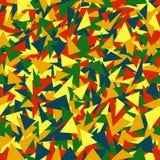 Пестрые треугольники простые геометрические формы r предпосылка цвета краска ткани повторяющийся предпосылка иллюстрация вектора