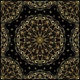 Пестрый платок с картиной золота Стоковое фото RF
