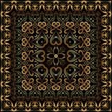 Пестрый платок с картиной золота Стоковое Изображение