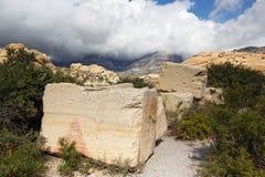 песчаник утеса карьера nca каньона красный стоковое изображение