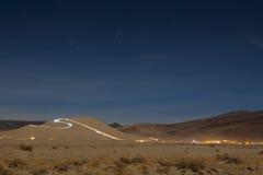 Песчанная дюна на ноче Стоковая Фотография RF