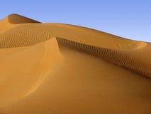 Песчанная дюна пустыни, Ближний Восток Стоковое Изображение