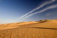 Песчанная дюна, пустыня Абу-Даби Стоковые Изображения RF