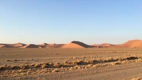 Песчанные дюны в национальном парке Namib-Naukluft, Намибии Стоковые Фото
