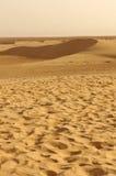 Песчанные дюны в пустыне Сахары Туниса Стоковое Изображение RF