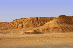 Песчанные дюны в пустыне Сахары Стоковые Изображения