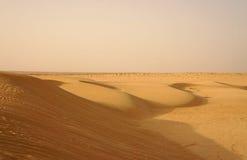 Песчанные дюны в пустыне Сахары Стоковая Фотография