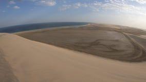 Ландшафт дюн пустыни акции видеоматериалы