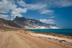 Песчанные дюны лучника, острова Socotra, Иемена стоковая фотография