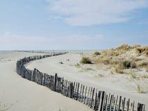 Песчанные дюны на пляже стоковая фотография rf
