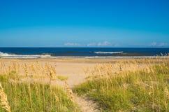 Песчанные дюны на цене океана Стоковые Изображения