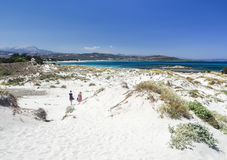 Песчанные дюны на sardinian побережье Стоковые Фотографии RF