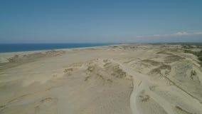 Песчанные дюны Paoay, Ilocos Norte, Филиппины сток-видео
