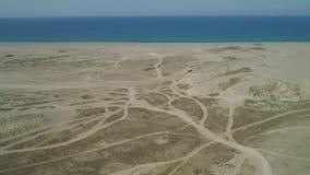 Песчанные дюны Paoay, Ilocos Norte, Филиппины акции видеоматериалы