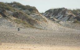 Песчанные дюны в Baleal приставают к берегу, Peniche, Португалия Стоковое фото RF