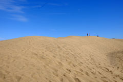 Песчанные дюны в Maspalomas на Канарских островах Gran Canaria, Испании - 13 02 2017 Стоковое Изображение RF