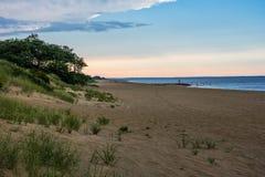 Песчанные дюны на сумраке Стоковые Изображения RF