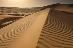 Песчанные дюны на Liwa Стоковое Изображение RF