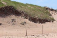 Песчанные дюны острова в лете Стоковая Фотография