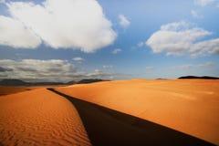 Песчанные дюны Corralejo Fuertaventura Стоковая Фотография