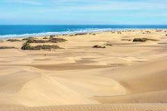 Песчанные дюны maspalomas gran canaria Канарские острова Испания Стоковое Фото