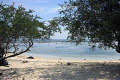 Песчаные пляжи белизны Gili Trawangan Стоковые Фотографии RF