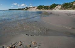 Песчаный пляж в Ньюфаундленде Стоковые Изображения RF