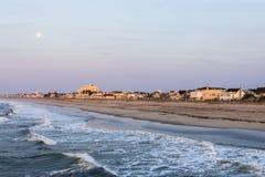 Песчаный пляж в пляже города ventnor в Атлантик-Сити, Нью-Джерси a Стоковое Изображение RF