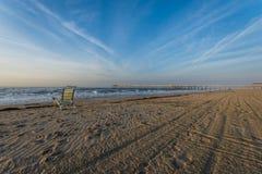 Песчаный пляж в пляже города ventnor в Атлантик-Сити, Нью-Джерси a Стоковая Фотография RF