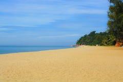 Песчаный пляж стоковое изображение rf
