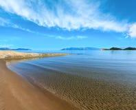 Песчаный пляж Албания Стоковое Изображение RF