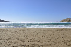 Песчаный пляж без людей Стоковое Фото
