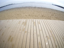 Песчаный пляж в Бостоне Массачусетсе Стоковые Фото