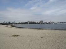 Песчаный пляж в Бостоне Массачусетсе Стоковая Фотография RF