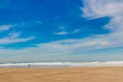 Песчаный пляж в Валенсии, Испания Стоковое Изображение RF