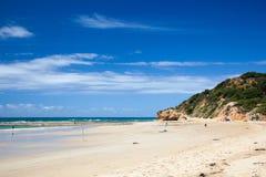 Песчаный пляж в Новом Уэльсе Стоковая Фотография