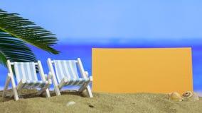 Песчаный пляж лета - лист чистого листа бумаги Стоковые Изображения RF