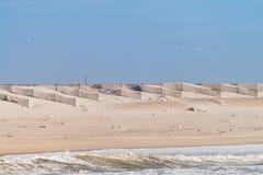 Песчаный пляж и дюны в Португалии Стоковое Изображение RF