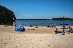Песчаный пляж на парке общины Стоковые Изображения RF