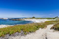 Песчаный пляж около пункта Cypress Стоковое Фото