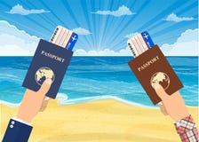 Песчаный пляж под ярким солнцем Стоковые Фотографии RF