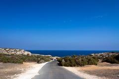 Песчаный пляж пляжа Nissi, на острове Кипра Стоковая Фотография