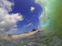 Песчаный пляж развевает Гаваи Стоковое Изображение RF