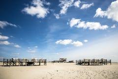 St. Питер-Ording песчаного пляжа стоковая фотография