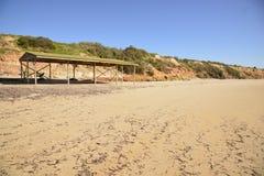 Песчаный пляж черного пункта Стоковое Фото