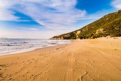 Песчаный пляж Стоковые Изображения