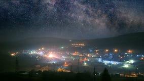 Петля городка ночи безшовная сток-видео