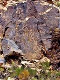 Петроглифы зазора Parowan в Юте стоковое изображение
